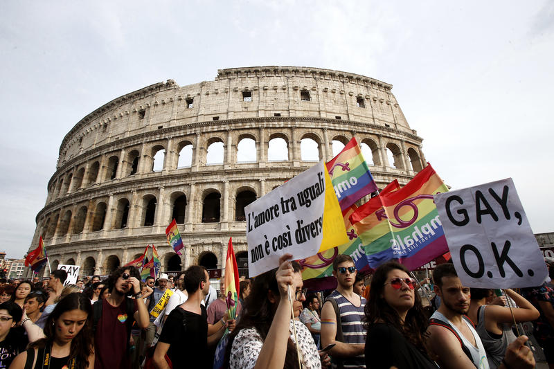 Photo of Rome's Gay Pride parade