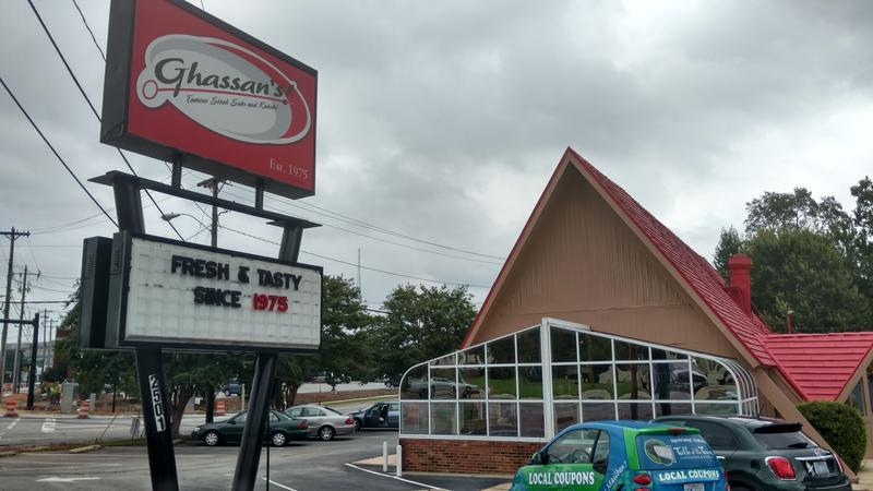 Ghassan's, a quick service Mediterranean restaurant  in Greensboro.