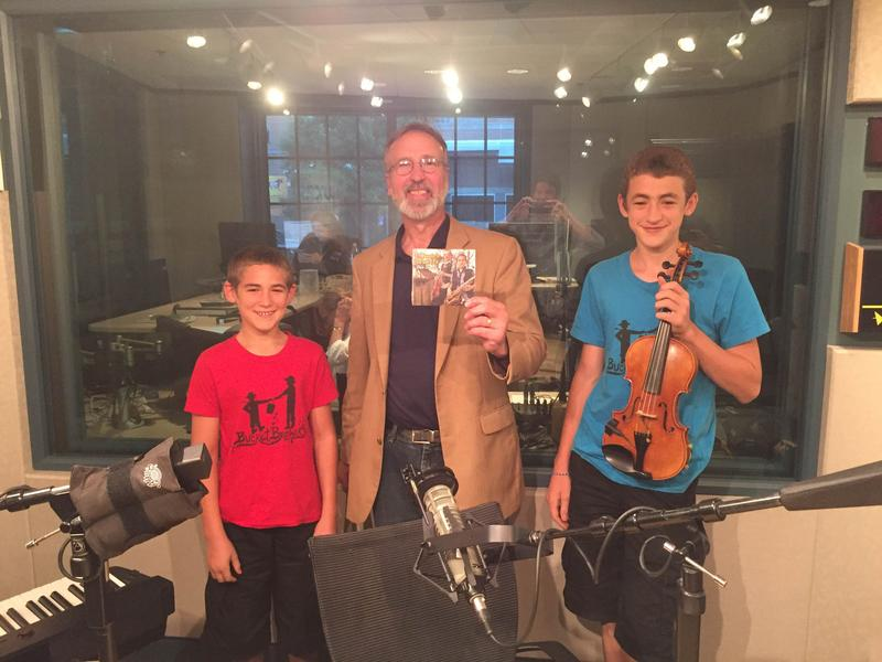 An image of The Bucket Brothers with host Frank Stasio