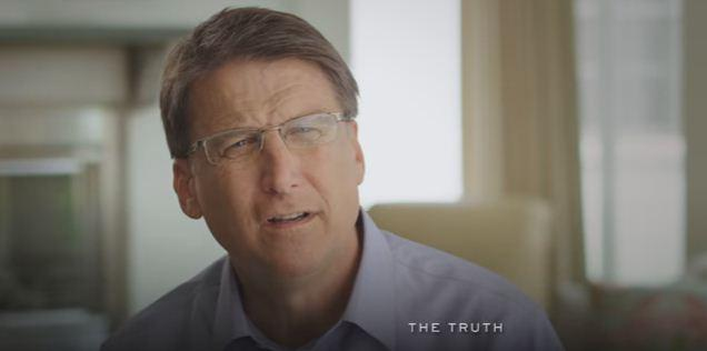 A screenshot of Wednesday's ad released by Gov. McCrory's campaign
