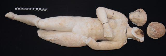North Carolina researchers uncovered this statue of Aphrodite while digging in the ancient city of Petra in Jordan.