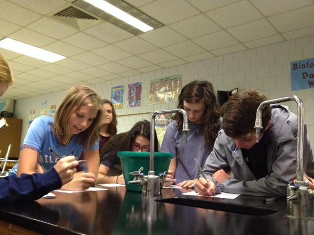 Millbrook High School students pregistered to vote in their science class.