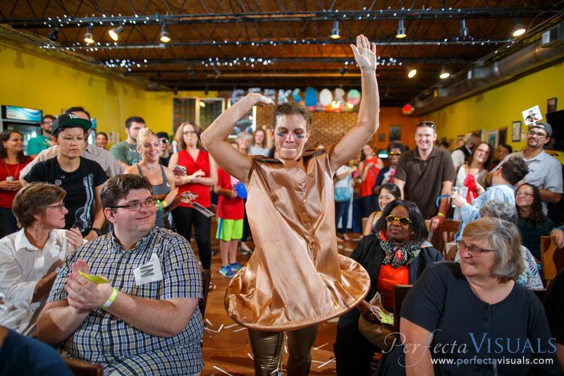 Laura Eynon wrestling in a GRAWL (Greensboro Arm Wrestling League) event.