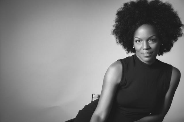 Black and white photo of renowned jazz singer Nnenna Freelon.