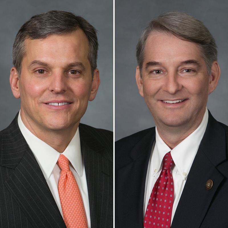 2016 Attorney General candidates Josh Stein and Buck Newton (right)