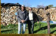 An image of peace activists Ali Abu Awwad and Rabbi Hanan Schlesinger