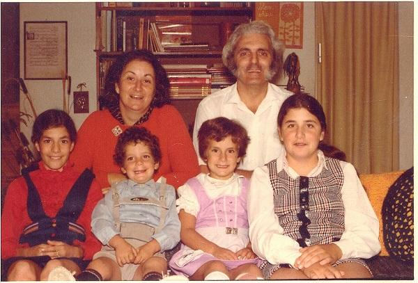 Bob Moog and his family in 1974.