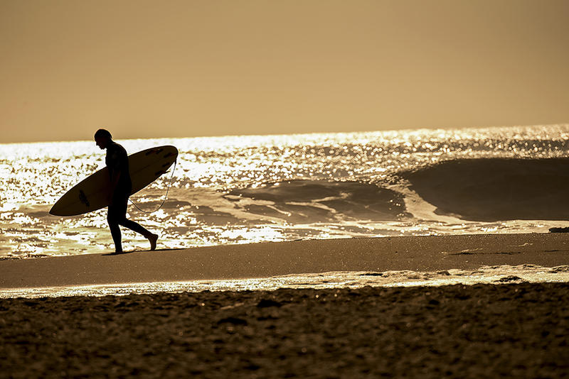 surfer at sunrise