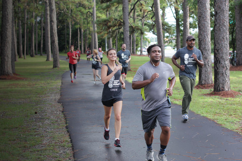 The Black Man Running group jog in Wilmington.