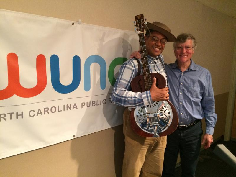 Dom Flemons with good friend and mentor Bill Ferris