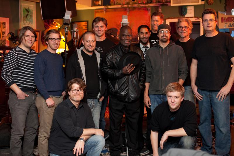 An image of Peter Lamb and the Wolves with Maceo Parker