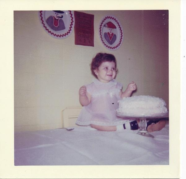 Image of Sheri Castle on her first birthday