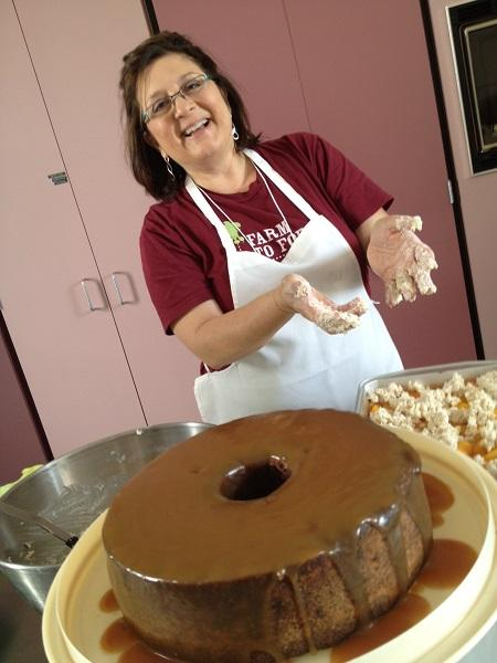 Image of Sheri Castle cooking desserts in New Bern
