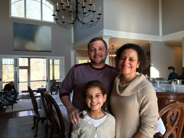 Malinda Maynor Lowery with her daughter, Lydia, and partner, Grayson, on Thanksgiving 2016.