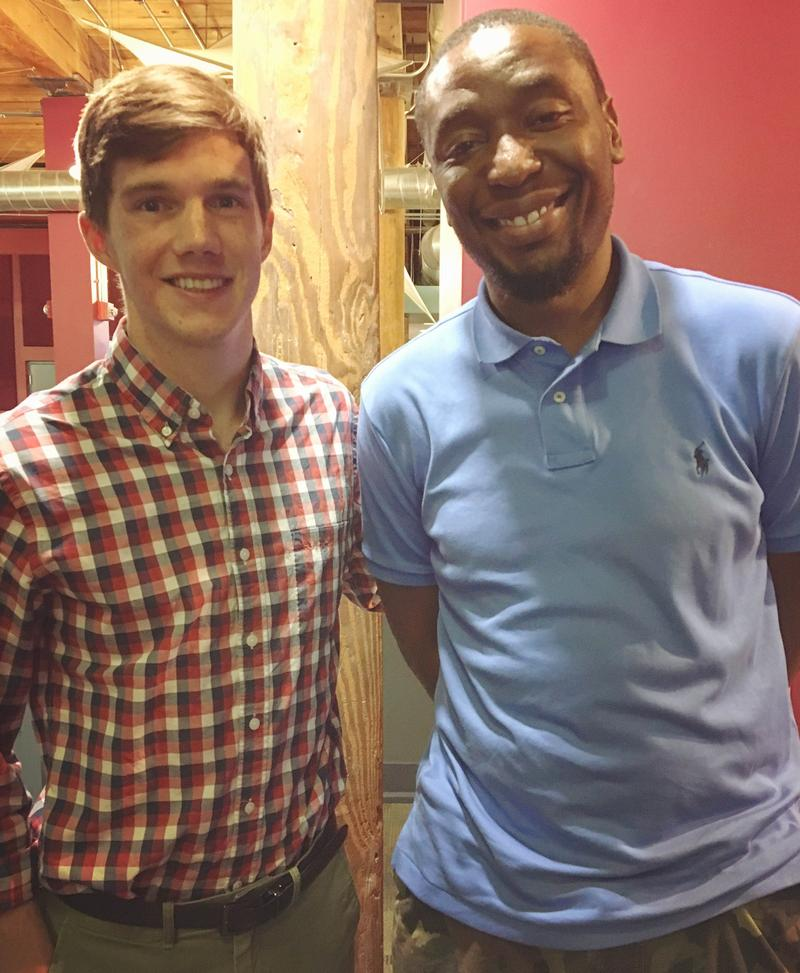 An image of producer Charlie Shelton-Ormond with hip-hop producer  9th Wonder