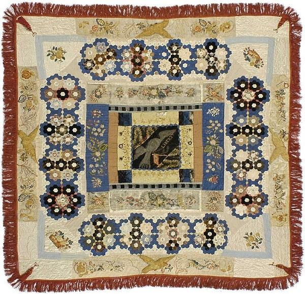 Image of a quilt made by Elizabeth Keckley