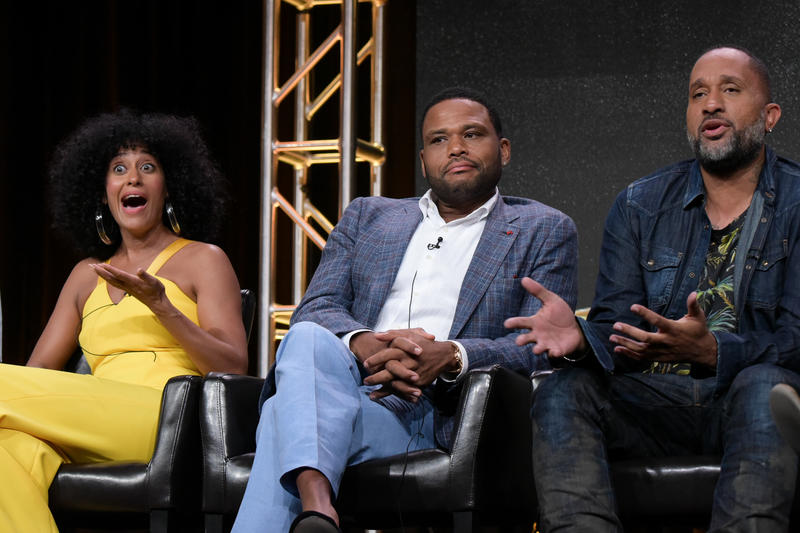 An image of Tracee Ellis Ross, Anthony Anderson and Kenya Barris