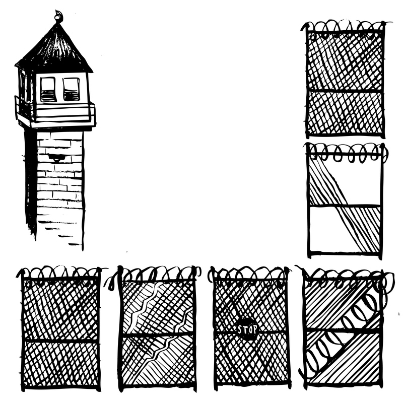 A drawing of Walnut Grove Youth Correctional Facility.