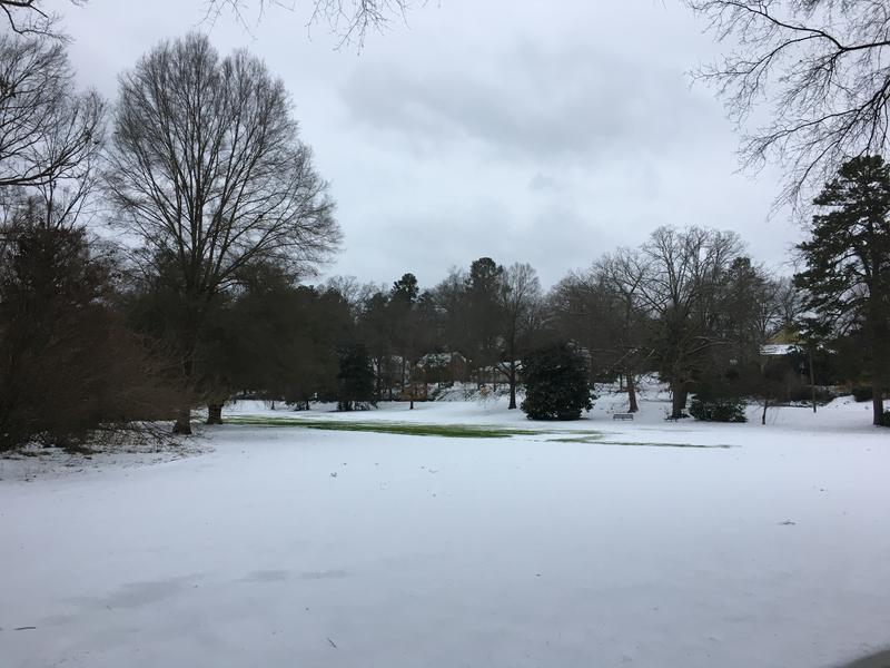 Winter weather hits Forest Hills Park in Durham