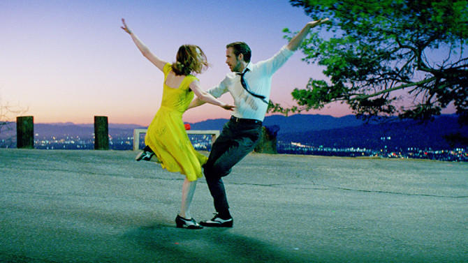 An image of acrots Emma Stone and Ryan Gosling in the film 'La La Land'