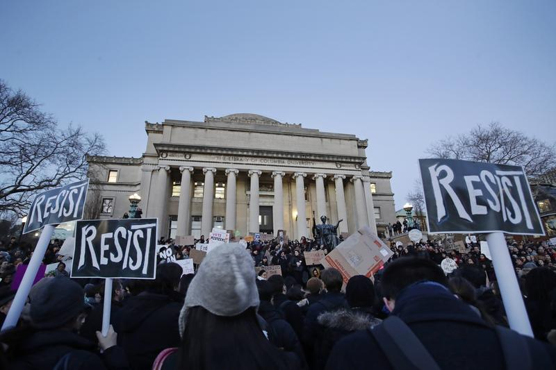 Anb image of protestors at Columbia University
