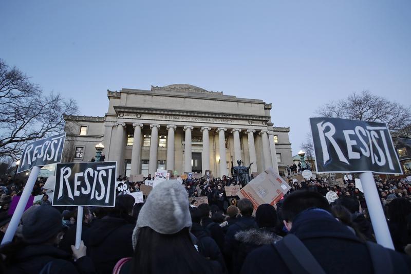 Anb image of protestors at Columbia University