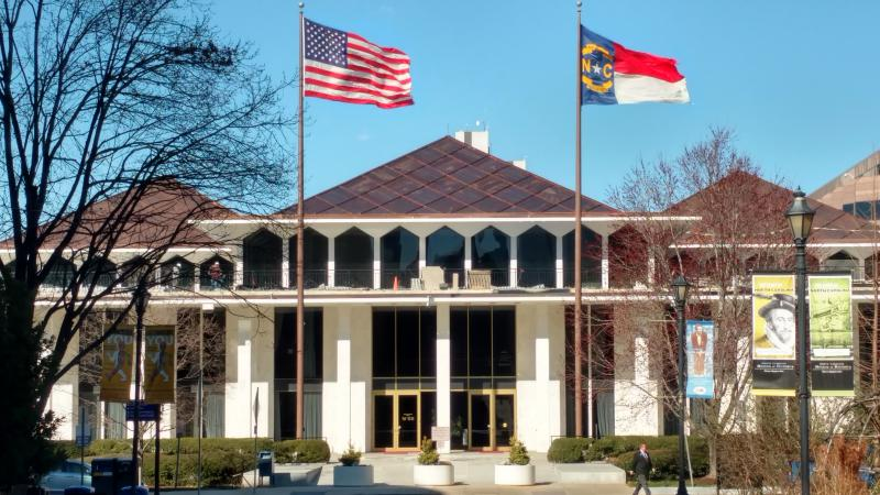 exterior of the NC State Legislature
