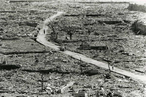 Image of atomic wasteland in Nagasaki