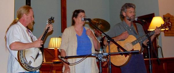 musicians Bruce Burgess, Kay Richey, and John Hartman