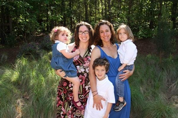 Image of Lisa Hightown-Weidman and her family