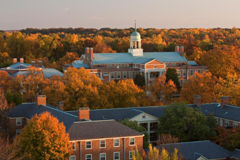 A view of the Wake Forest University campus