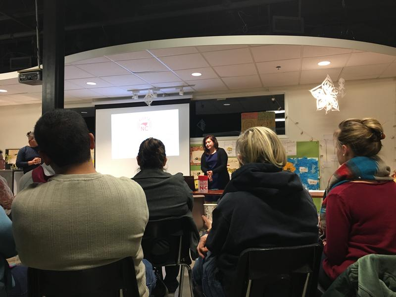 Parents at a Triangle charter school listened to a presentation about how to deal with Immigration and Customs Enforcement, or ICE.