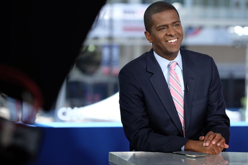 A profile of a smiling Bakari Sellers, CNN political analyst, lawyer, and former South Carolina State Representative.