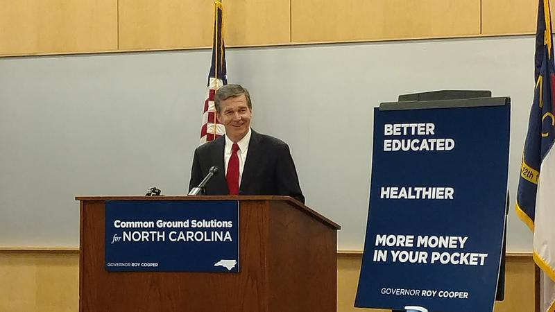 North Carolina Governor Roy Cooper unveiled his first budget proposal on Wednesday, March 1, 2017 at Durham Technical Community College.