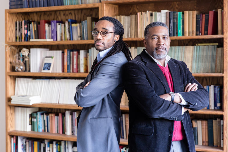 An image of UNCA professors and co-hosts Marcus Harvey and Darin Waters