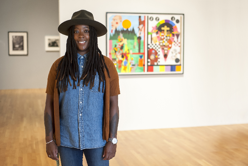 Nina Chanel Abney's exhibit in the Nasher Musuem of Art runs through July 16th.