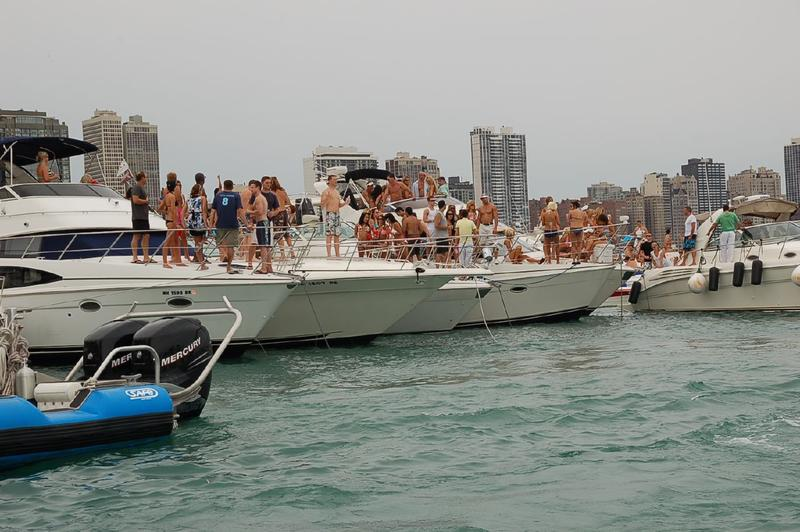 People partying on a boat