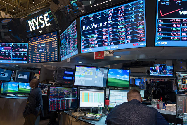 Trading Floor at the New York Stock Exchange