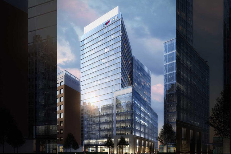 A rendering of the 22-story FNB Tower that will break ground in downtown Raleigh later this year.
