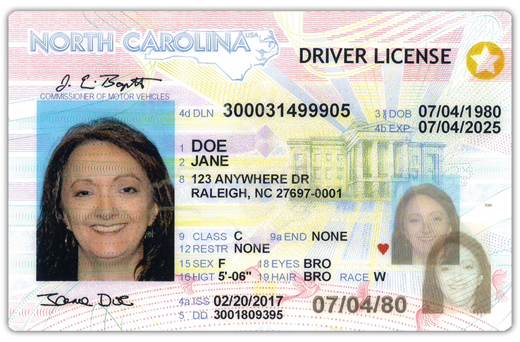 The new REAL IDs are now available in North Carolina.