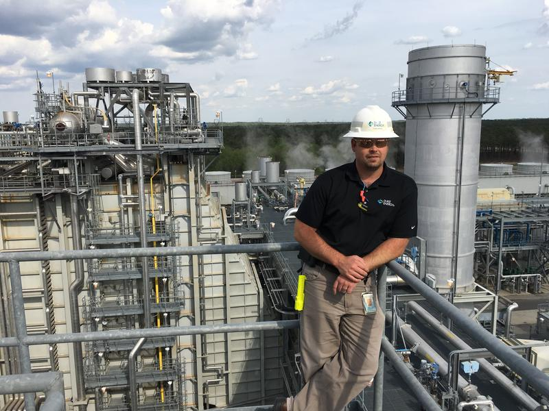 Plant manager Tom Hanes. Hanes overees the Duke Energy natural gas-fired plant in Hamlet.