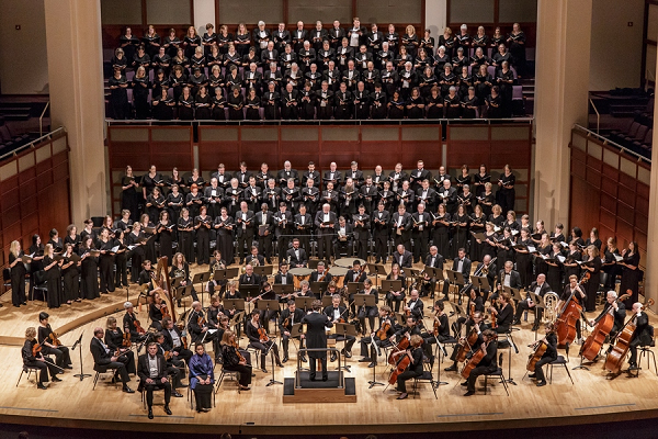 The North Carolina Master Chorale Chamber Choir performing at Meymandi Concert Hall in January.