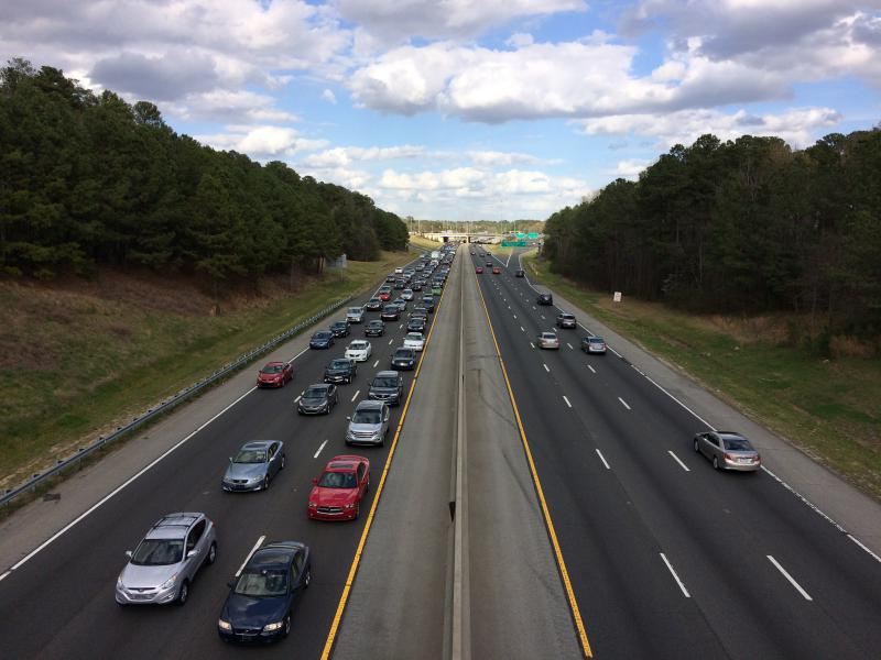 traffic on Interstate 40 in Durham