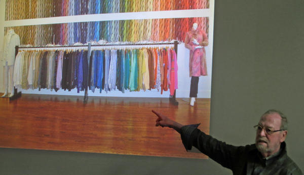 Julian lecturing design students at Indiana University. Julian is known for his sophisticated understanding of color.