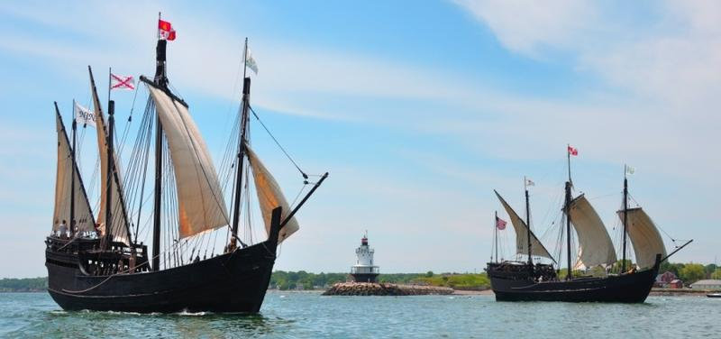 Replicas of the Nina and Pinta, used by Christopher Columbus to sail across the Atlantic Ocean, will dock at Wilmington.