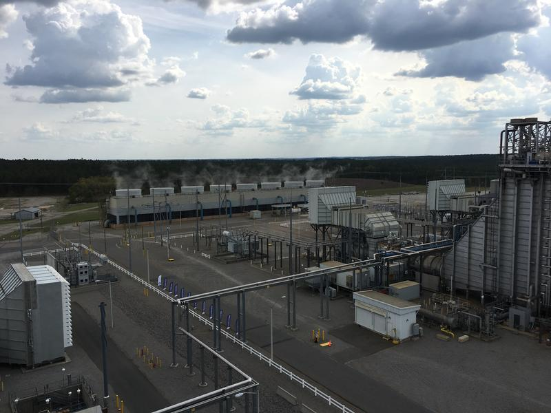 The Duke Energy natural gas-fired plant in Hamlet.