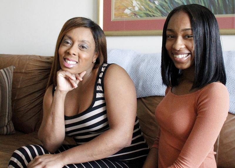 Iisha Brown, left, and her daughter, Olivia Brown, 17. Because Olivia Brown lives in North Carolina, she was charged as an adult for a school fight last year, and now worries that with a criminal record, her chance at a successful life is ruined.