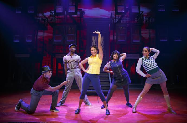 """Cast from """"A Bronx Tale"""" featuring Ariana Debose (center) and Gilbert L.Bailey II, Bradley Gibson, Trista Dollison, and Christiani Pitts (L-R)"""