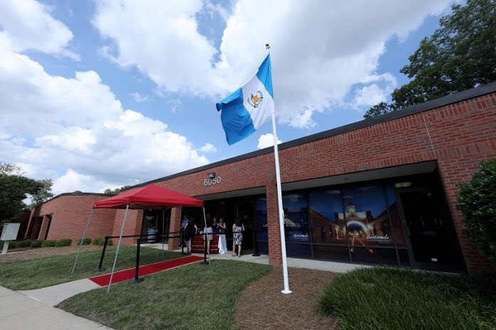 The Guatemalan flag now flies at the country's new consulate in Raleigh.