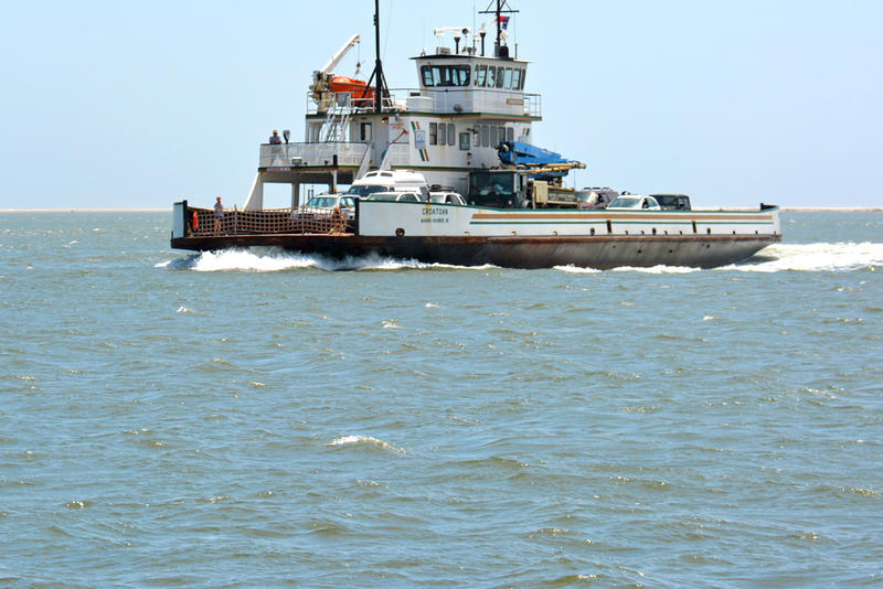 One of the ferries that travels between Hatteras to Ocracoke Island.